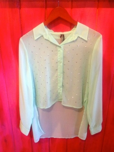 Sheer Mint Blouse